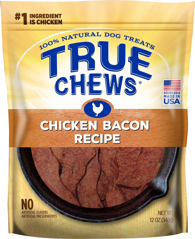 True Chews Chicken Bacon Recipe Dog Treats, 12-oz bag