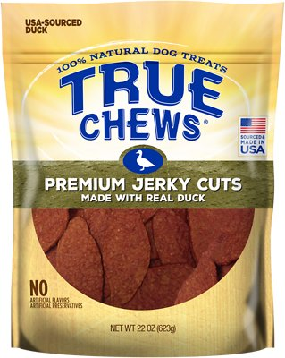 True Chews Premium Jerky Cuts with Real Duck Dog Treats, 22-oz