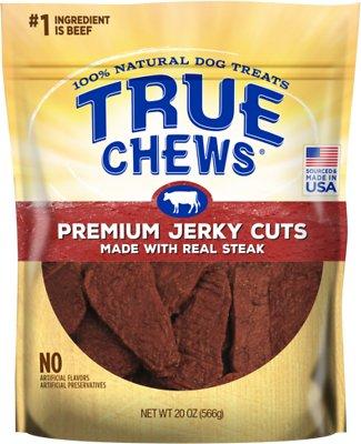 True Chews Premium Jerky Cuts with Real Sirloin Steak Dog Treats, 20-oz bag