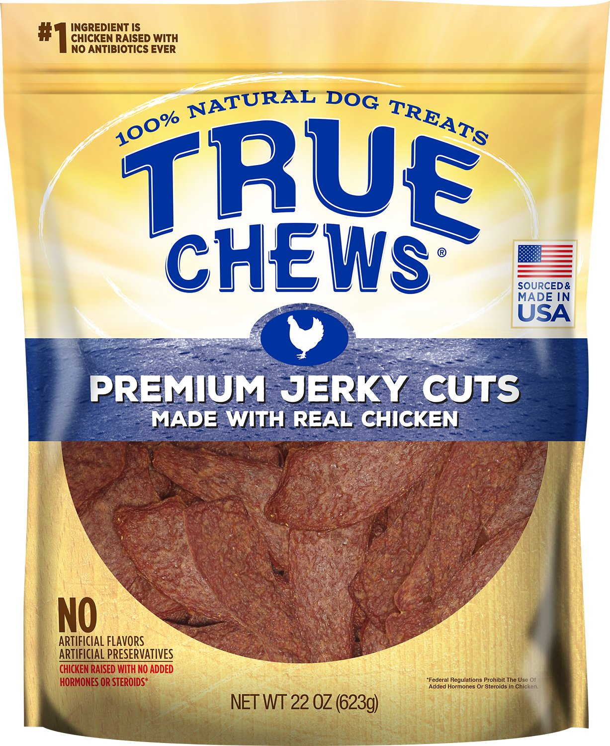 True Chews Premium Jerky Cuts with Real Chicken Dog Treats, 22-oz