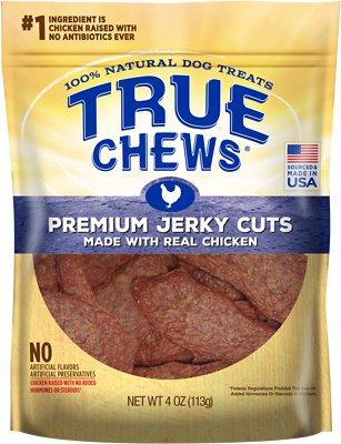 True Chews Premium Jerky Cuts with Real Chicken Dog Treats, 4-oz