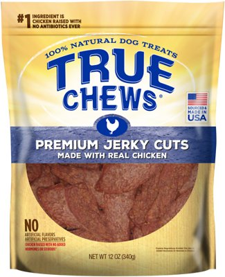 True Chews Premium Jerky Cuts with Real Chicken Dog Treats, 12-oz