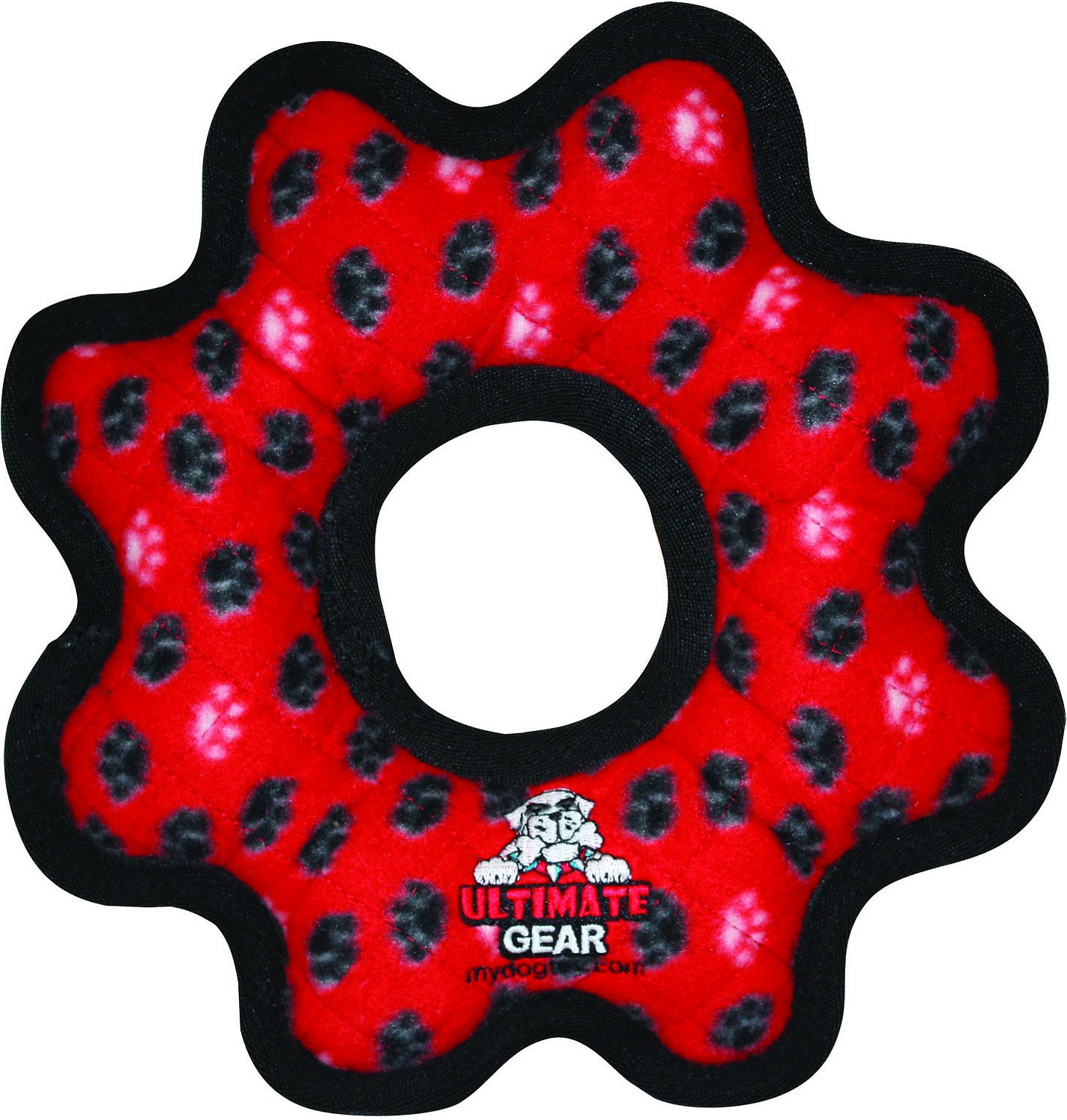Tuffy's Ultimate Gear Ring Dog Toy, Camo Blue