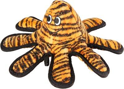 Tuffy's Mega Creature Tiger Print Octopus Dog Toy, Oscar