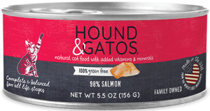 Hound & Gatos Salmon Formula Grain-Free Canned Cat Food, 5.5-oz