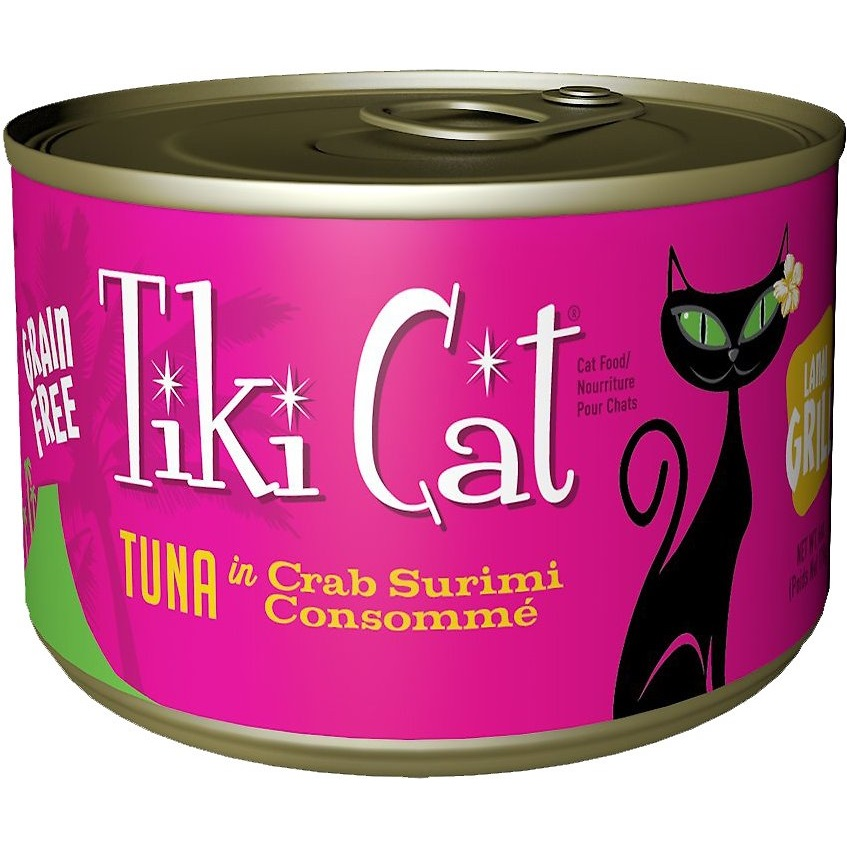 Tiki Cat Lanai Grill Tuna in Crab Surimi Consomme Grain-Free Canned Cat Food, 6-oz