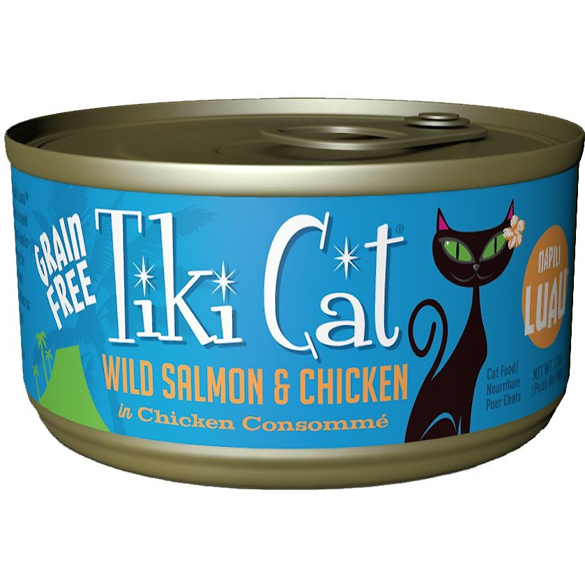 Tiki Cat Napili Luau Wild Salmon & Chicken in Chicken Consomme Grain-Free Canned Cat Food, 2.8-oz