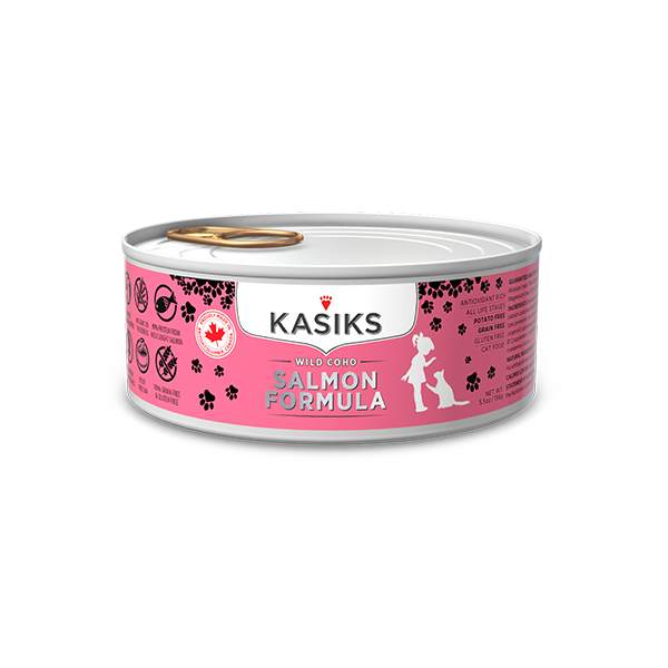 KASIKS Wild Coho Salmon Formula Grain-Free Canned Cat Food