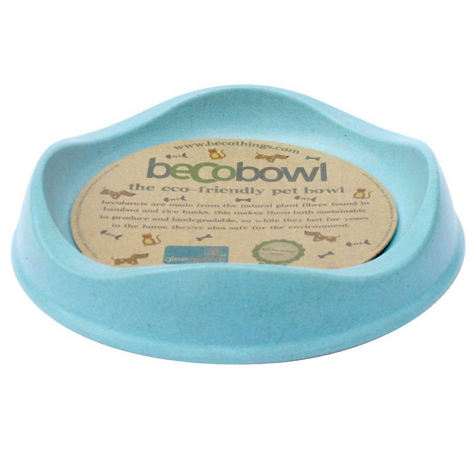 Beco Cat Bowl, Blue, 6.6-in
