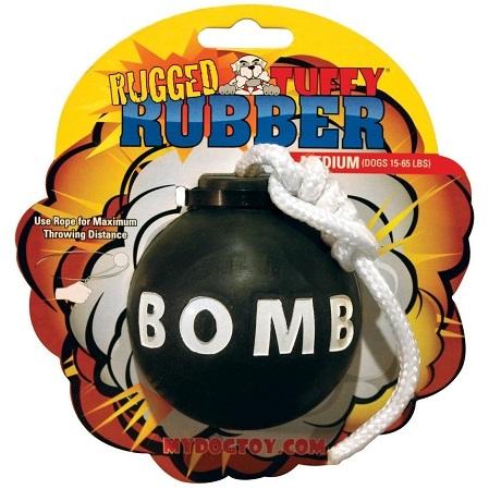 Tuffy's Rugged Rubber Bomb Medium Dog Toy