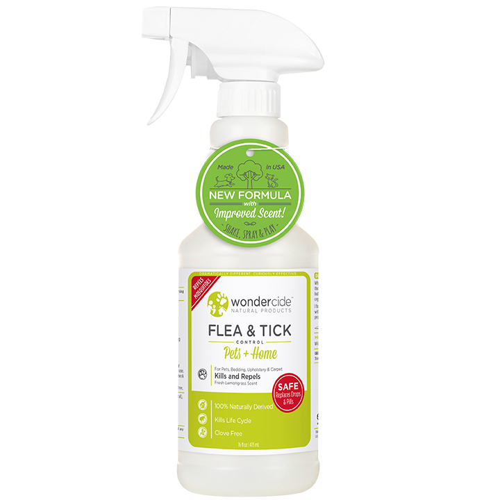 Wondercide 'FLEA & TICK' Natural Flea, Tick & Mosquito Control for Dogs, Cats & Home - Lemongrass Scent