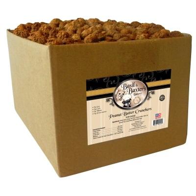 Basil & Baxter's Peanut Butter Crunchers Dog Treat 10lbs - BULK