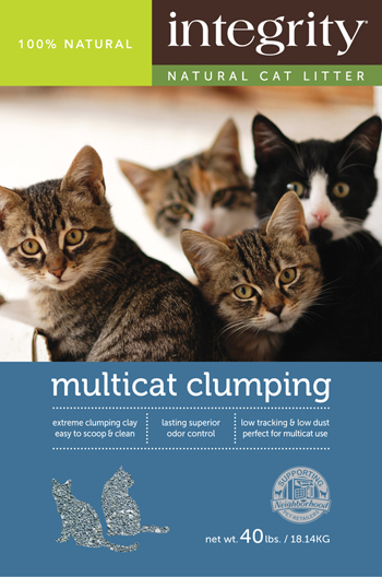 Integrity Natural Multi-Cat Clumping Cat Litter, 25-lb