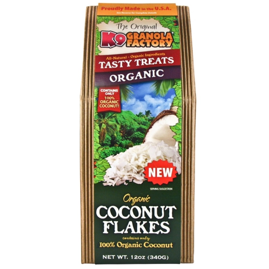K9 Granola Factory Organic Coconut Flakes Dog Treats
