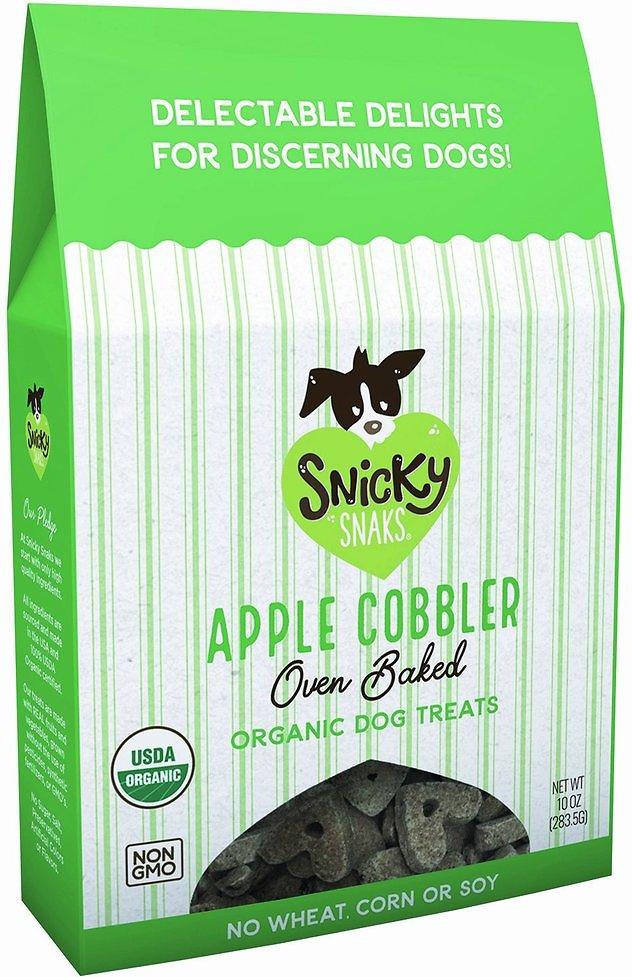 Snicky Snaks Organic Apple Cobbler Oven Baked Dog Treats, 10-oz box