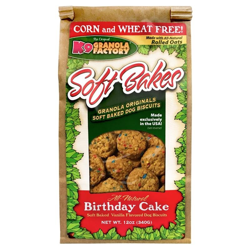 K9 Granola Factory Soft Bakes Birthday Cake Dog Treats, 12-oz