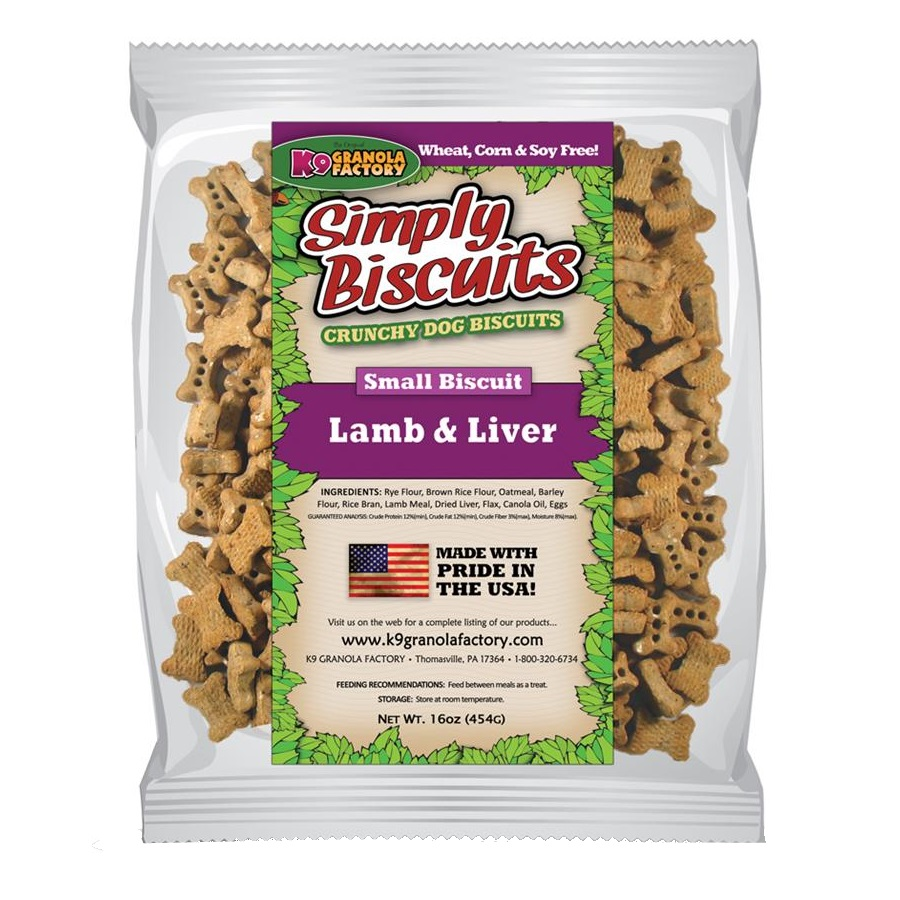 K9 Granola Factory Simply Biscuits Lamb & Liver Dog Treats, Small, Small, 16 oz