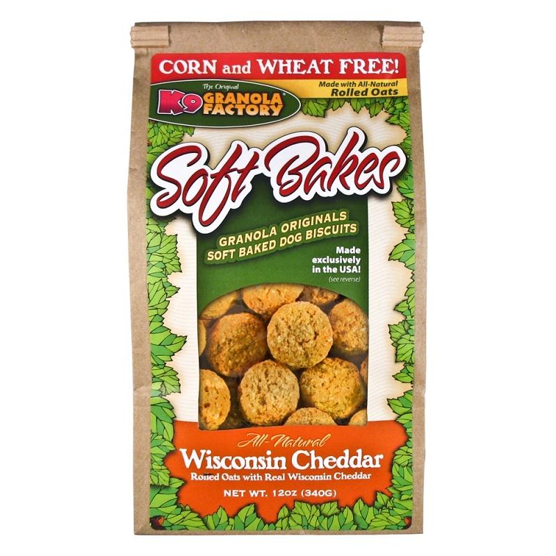 K9 Granola Factory Soft Bakes Wisconsin Cheddar Recipe Dog Treats, 12-oz