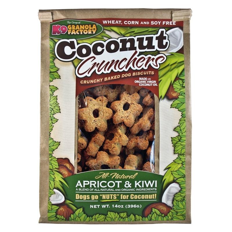 K9 Granola Factory Coconut Crunchers Apricot and Kiwi Dog Treats, 14-oz