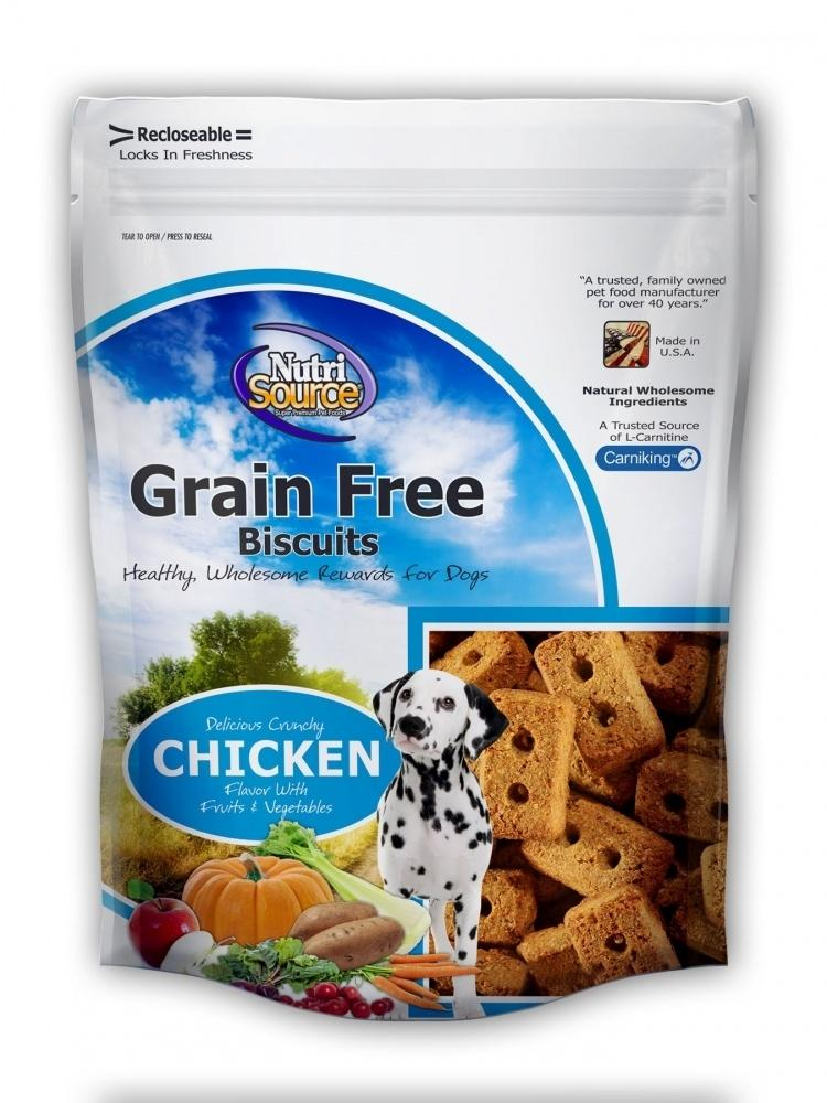 NutriSource Grain Free Biscuits Chicken Dog Treats