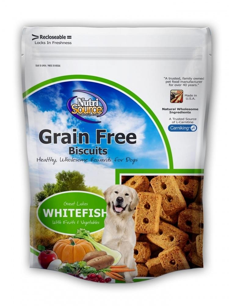 NutriSource Grain Free Biscuits Whitefish Dog Treats