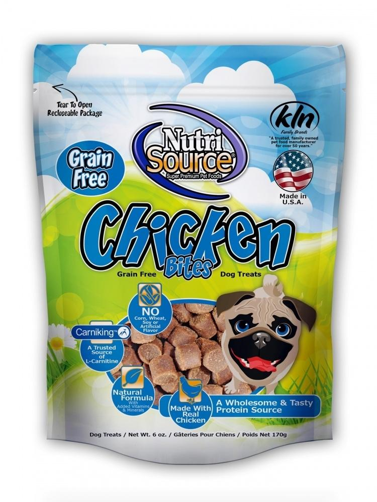 NutriSource Grain Free Bites Chicken Dog Treats
