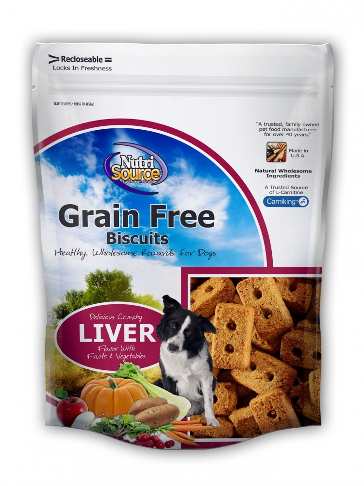 NutriSource Grain Free Biscuits Liver Dog Treats
