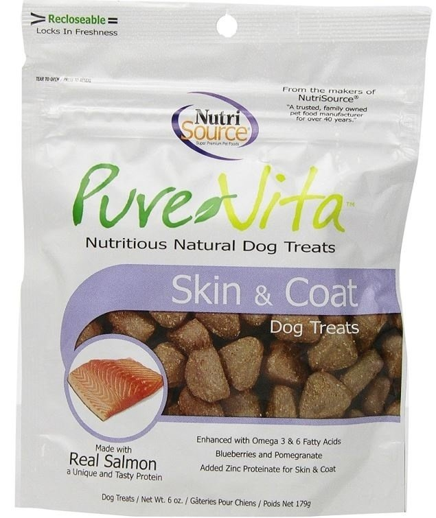 PureVita Skin And Coat Dog Treats, 6-oz