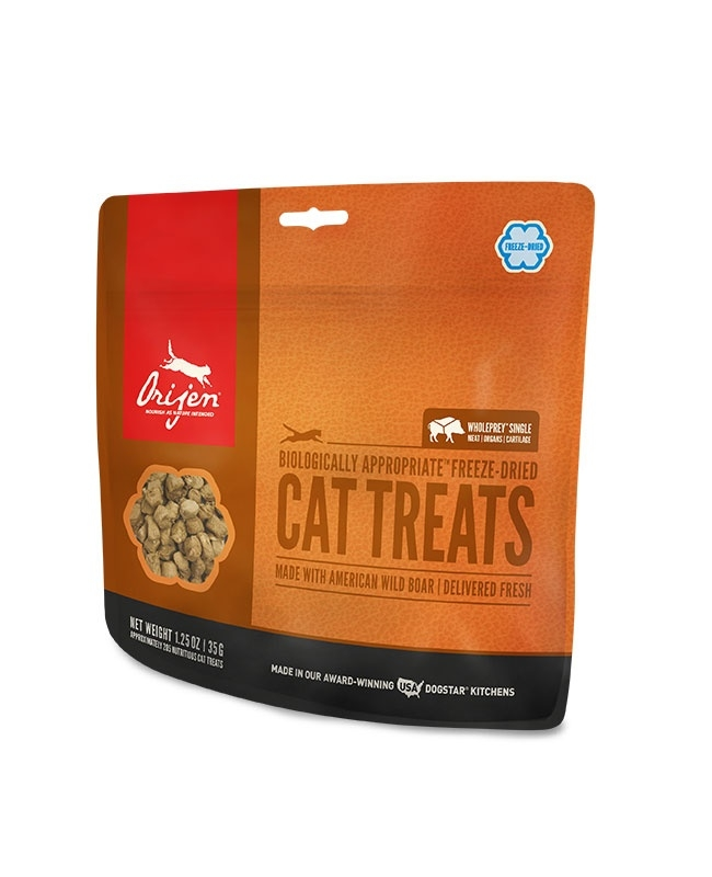 ORIJEN Freeze Dried Wild Boar Cat Treats, 1.25-oz