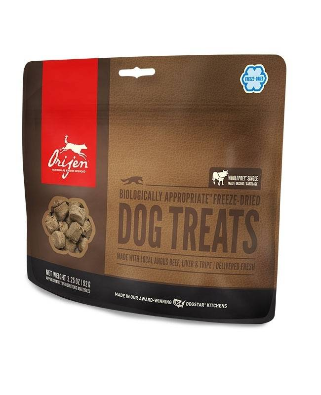 ORIJEN Freeze Dried Angus Beef Dog Treats, 3.25-oz