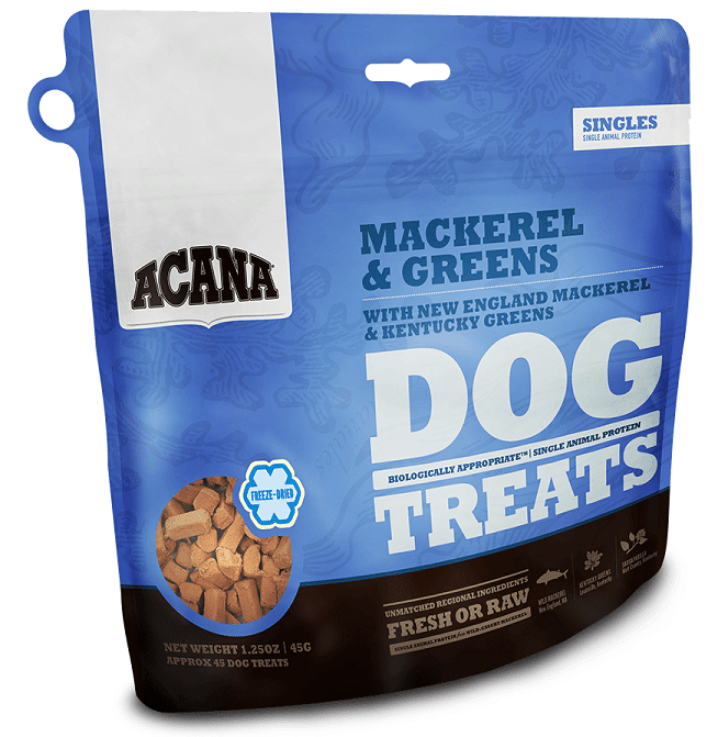 ACANA Singles Limited Ingredient Diet Wild Mackerel Formula Dog Treats, 3.25-oz