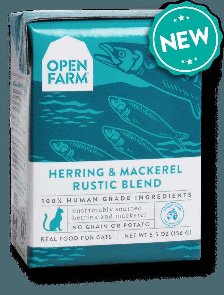 Open Farm Grain Free Herring & Mackerel Recipe Rustic Blend Wet Cat Food, 5.5-oz