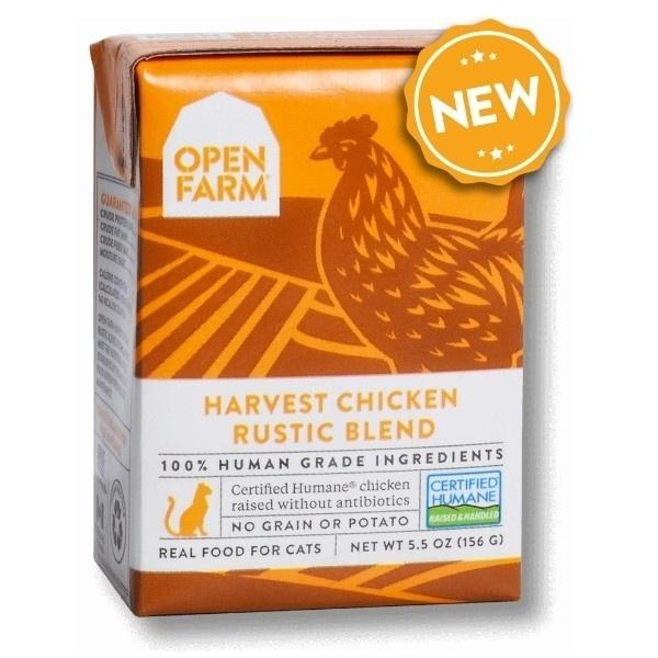 Open Farm Grain Free Harvest Chicken Recipe Rustic Blend Wet Cat Food