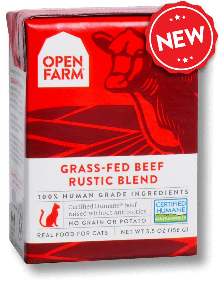 Open Farm Grain Free Grass Fed Beef Recipe Rustic Blend Wet Cat Food
