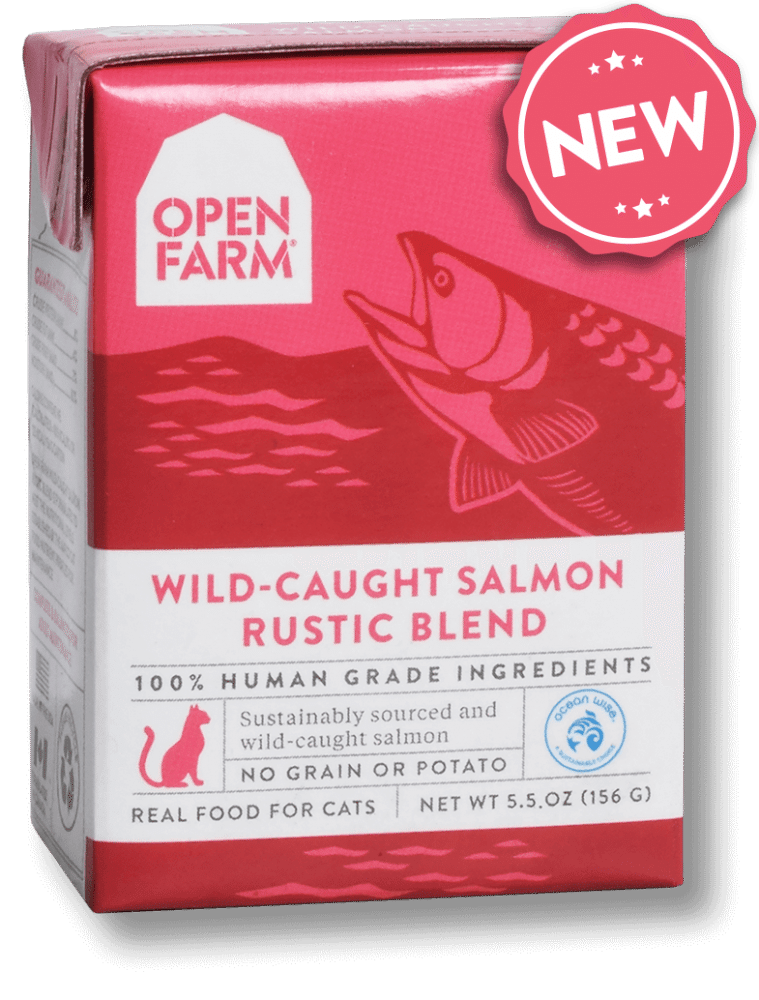 Open Farm Grain Free Wild Caught Salmon Recipe Rustic Blend Wet Cat Food