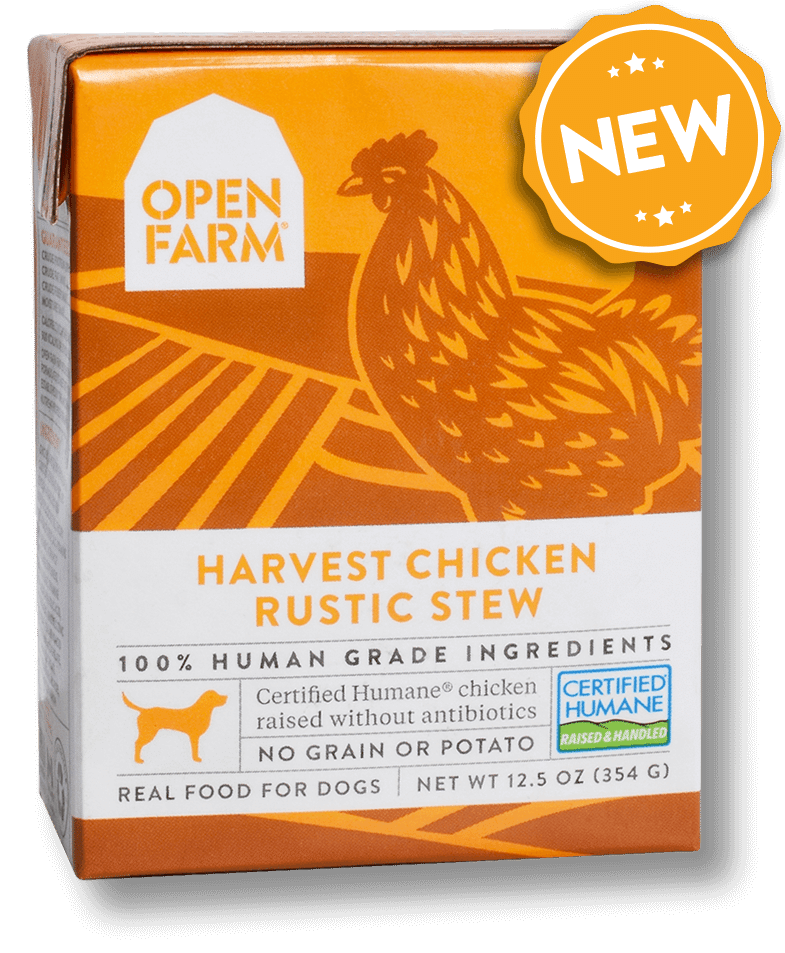 Open Farm Grain Free Harvest Chicken Recipe Rustic Stew Wet Dog Food, 12.5-oz