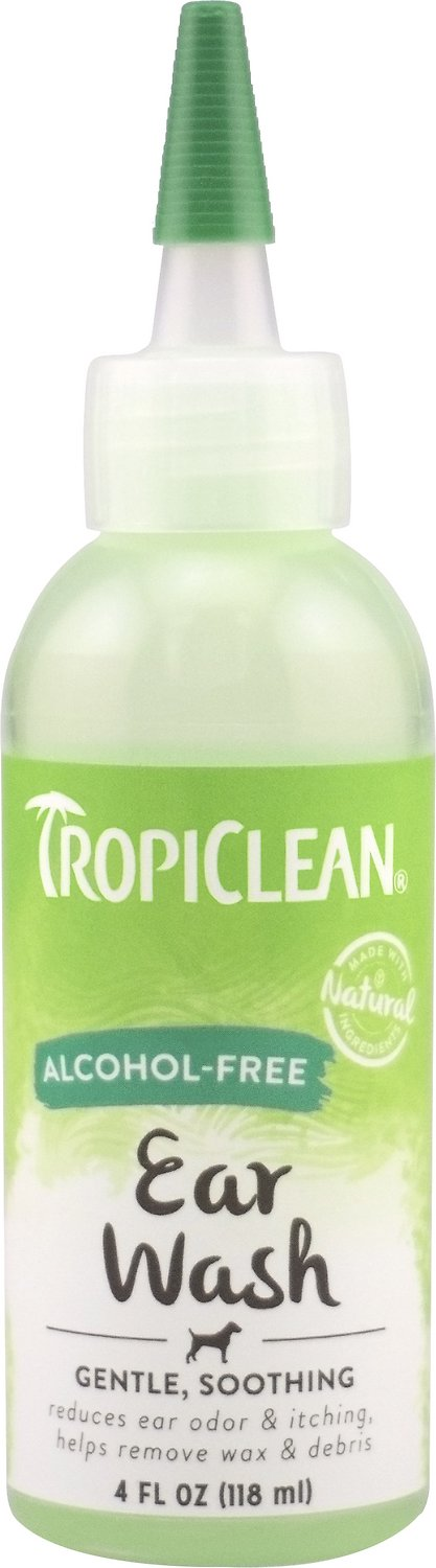 TropiClean Alcohol Free Ear Wash for Dogs, 4-oz bottle