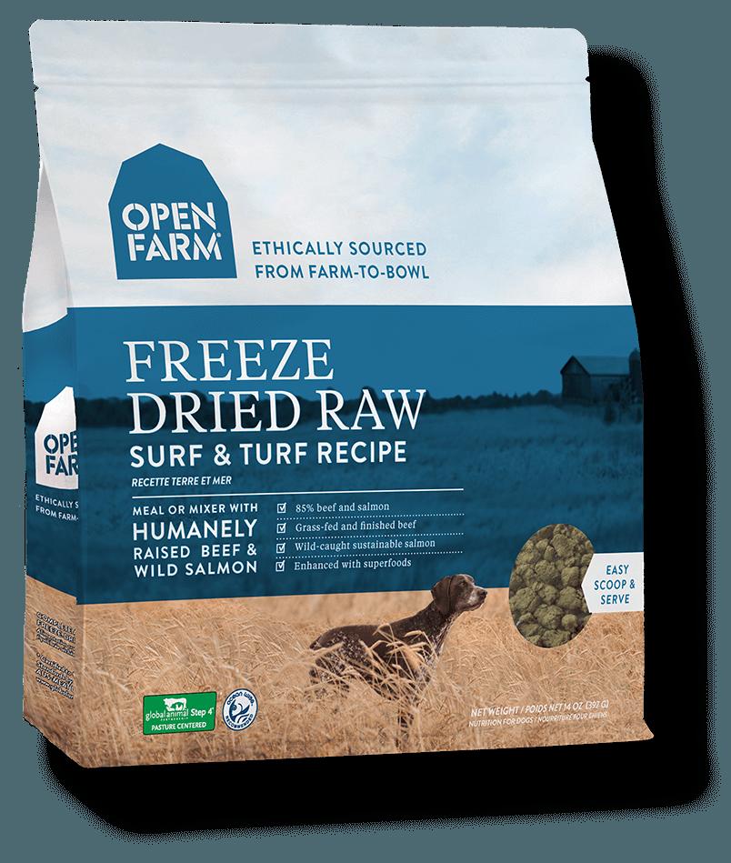 Open Farm Grain Free Surf & Turf Recipe Freeze Dried Raw Dog Food, 13.5-oz