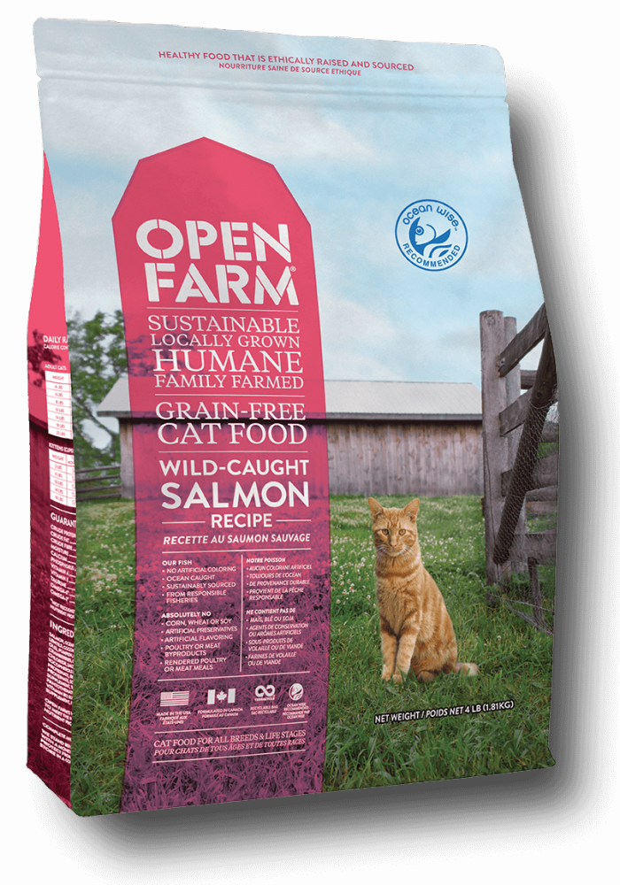 Open Farm Grain Free Wild Caught Salmon Recipe Dry Cat Food Image