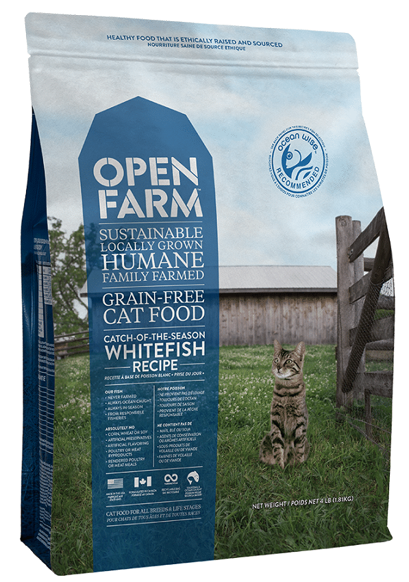 Open Farm Grain Free Catch of the Season Whitefish Recipe Dry Cat Food Image