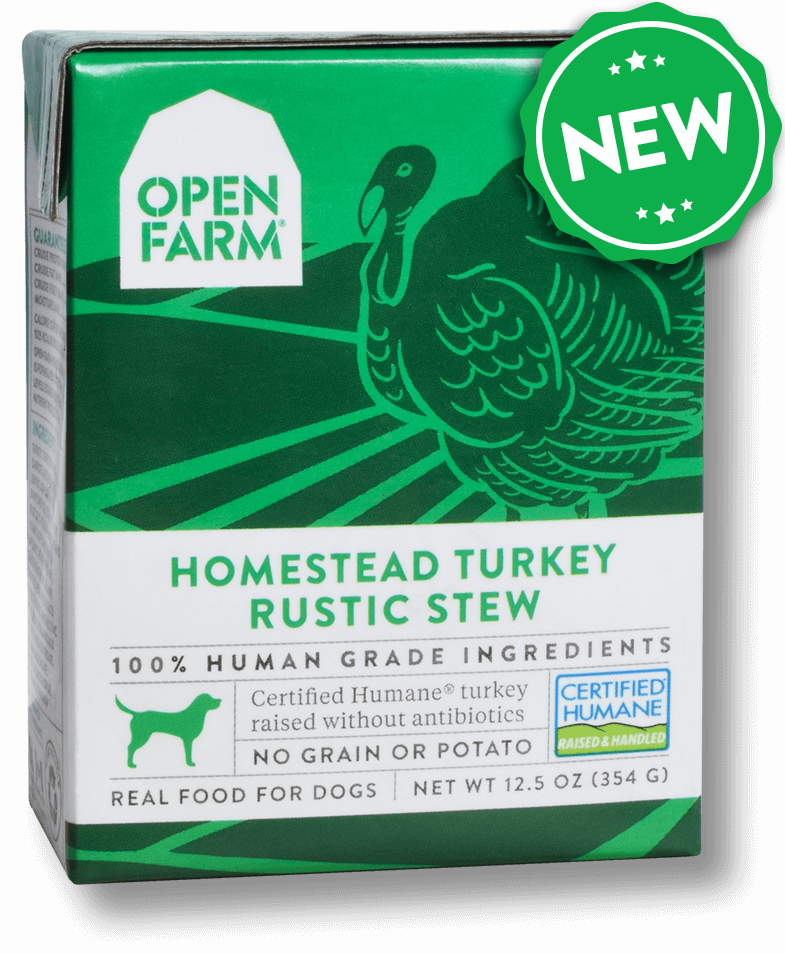 Open Farm Grain Free Homestead Turkey Recipe Rustic Stew Wet Dog Food