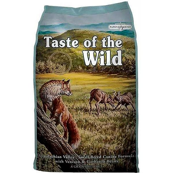Taste of the Wild Appalachian Valley Small Breed with Venison & Garbanzo Beans Grain-Free Adult Dry Dog Food, 14-lb