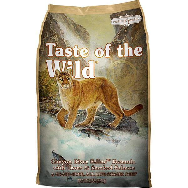 Taste of the Wild Canyon River with Trout & Smoked Salmon Grain-Free Dry Cat Food, 5-lb