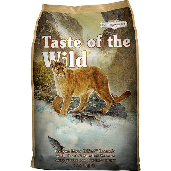 Taste of the Wild Canyon River with Trout & Smoked Salmon Grain-Free Dry Cat Food, 14-lb