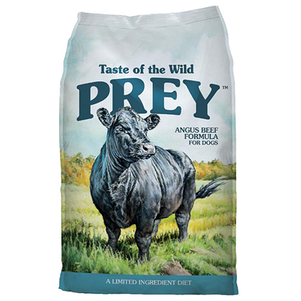 Taste of the Wild Prey Angus Beef Limited Ingredient Formula Grain-Free Dry Dog Food, 25-lb
