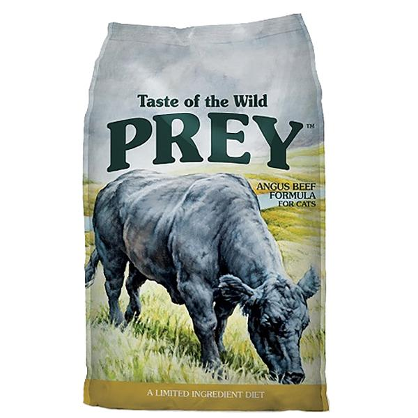 Taste of the Wild Prey Angus Beef Limited Ingredient Formula Grain-Free Dry Cat Food, 6-lb