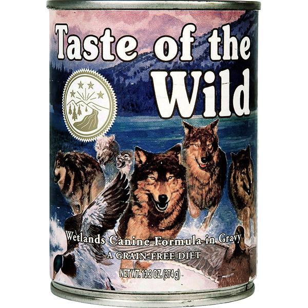 Taste of the Wild Wetlands with Fowl in Gravy Grain-Free Wet Canned Dog Food, 13-oz