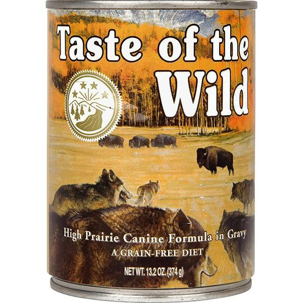 Taste of the Wild High Prairie with Bison in Gravy Grain-Free Wet Canned Dog Food, 13.2-oz