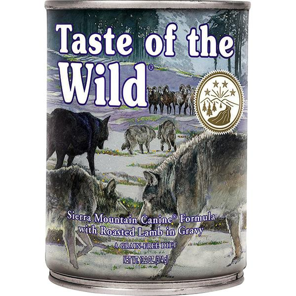 Taste of the Wild Sierra Mountain with Lamb in Gravy Grain-Free Wet Canned Dog Food, 13.2-oz