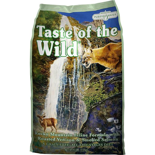 Taste of the Wild Rocky Mountain with Roasted Venison & Smoked Salmon Grain-Free Dry Cat Food, 5-lb